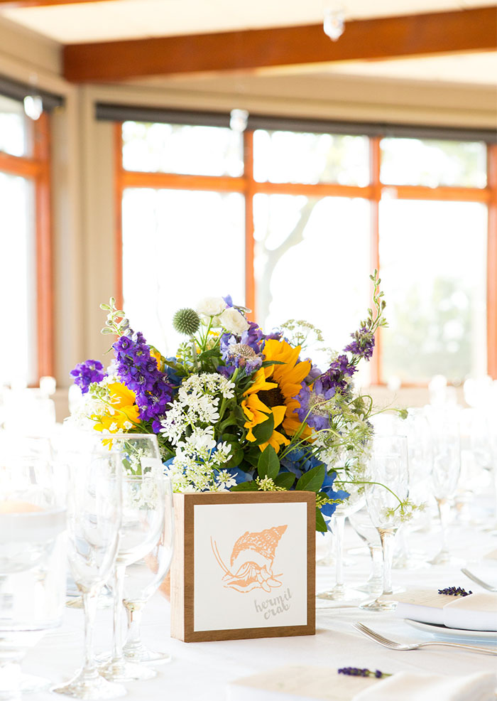 We LOVE a couple who names their tables instead of numbering them. Ana and Peter named their tables for sea creatures!
