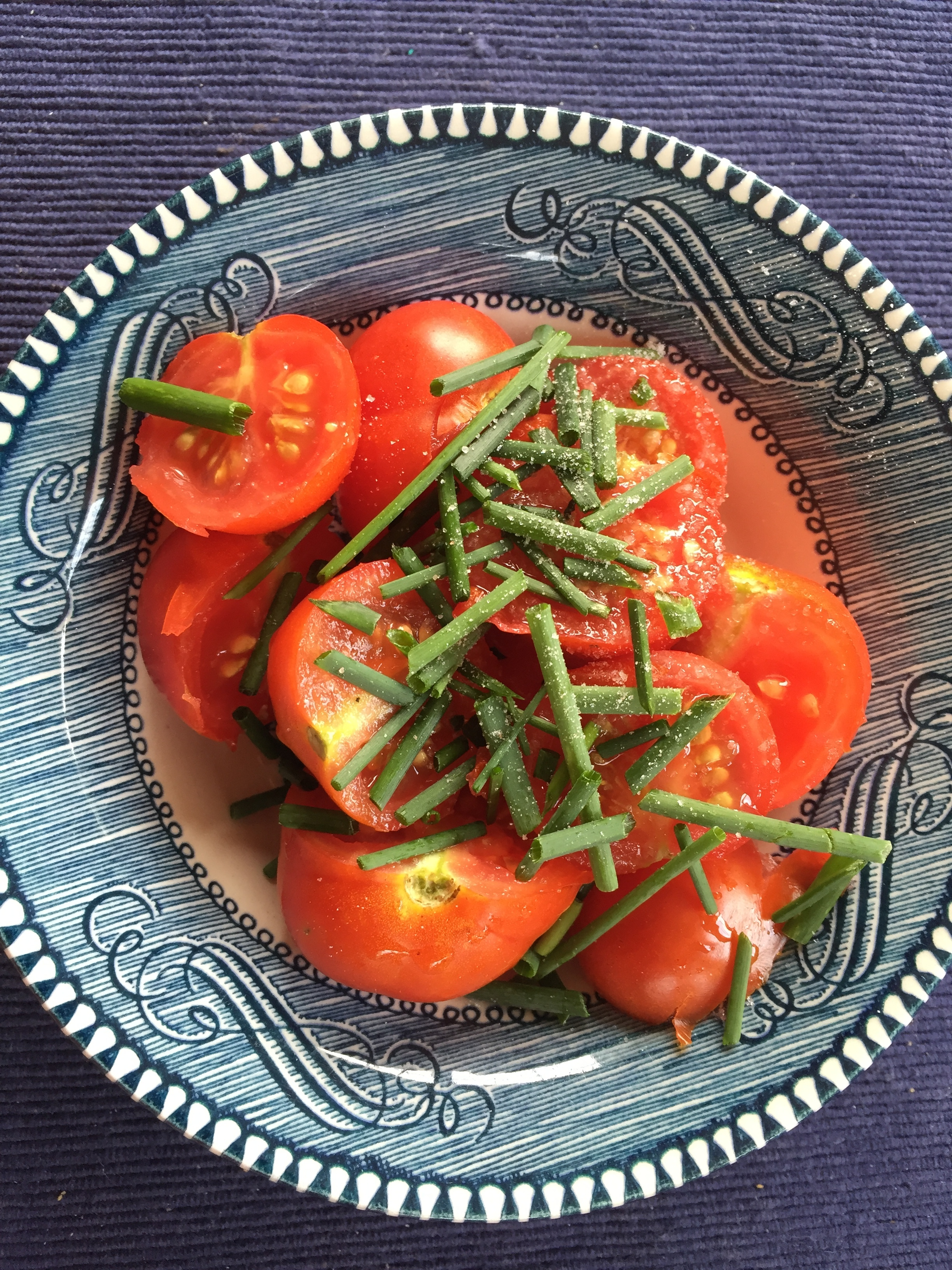 The tomatoes became an appetizer -