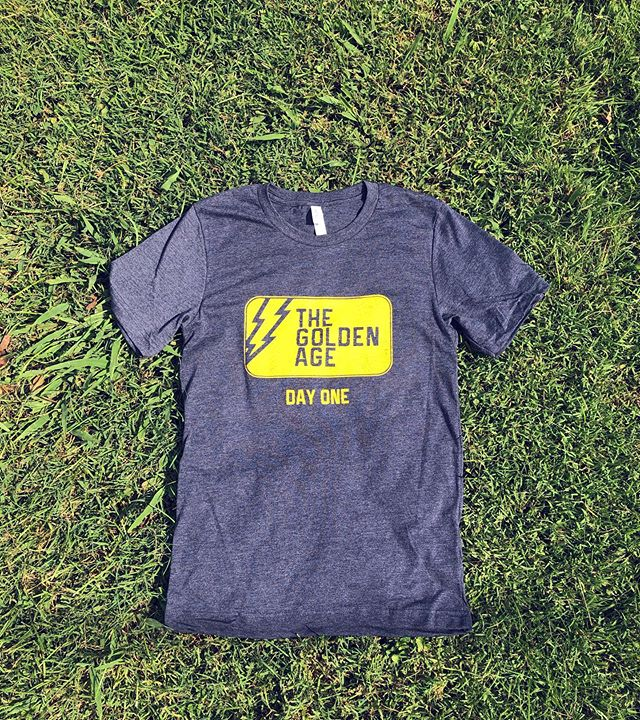 Here's one we designed and printed last week for our buds, The Golden Age! ⚡️