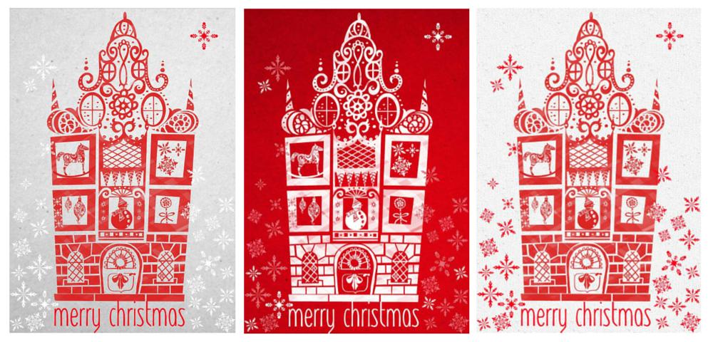 Virginia Romo Illustration . Christmas Card at the MATS course