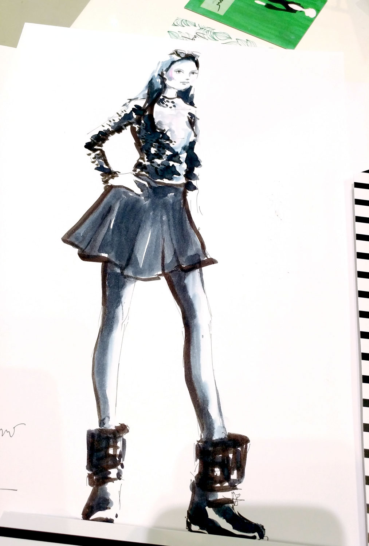 Live drawing event Virginia Romo Illustration