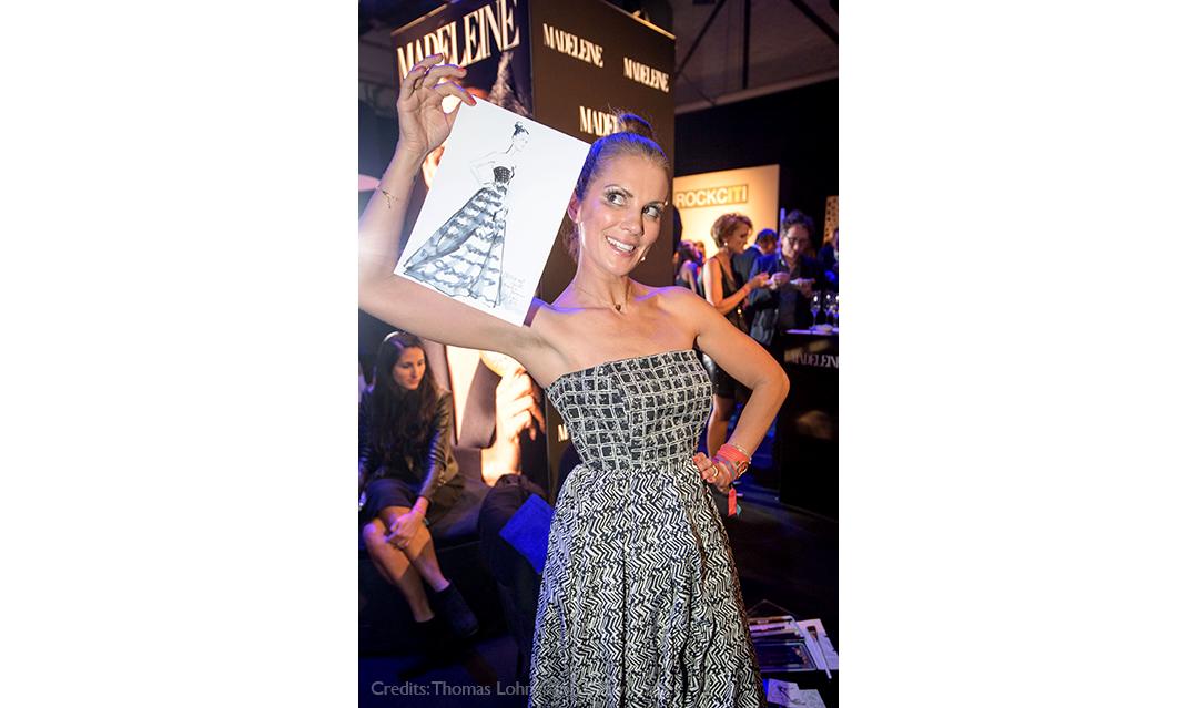 Live sketch event Virginia Romo Fashion Illustration at Tribute to Bambi Award 2017 with Kerstin Linnartz