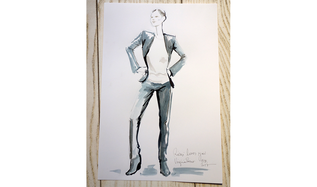 Live Sketches Fashion illustration Virginia Romo Riani Lodenfrey 1