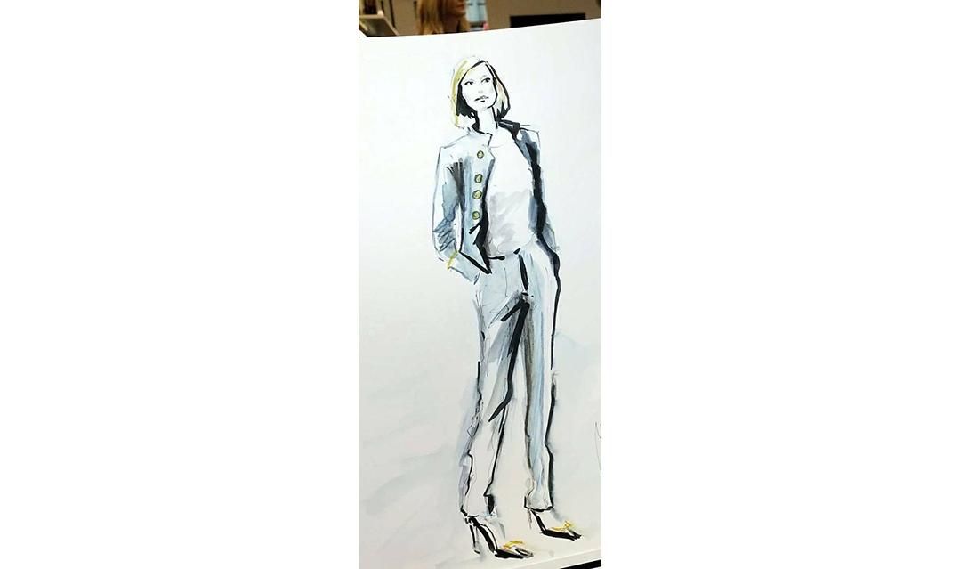 Live Sketches Fashion illustration Virginia Romo Riani Lodenfrey 3