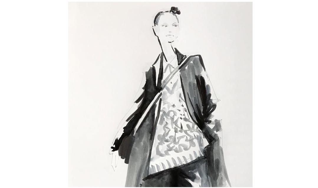 Live Sketches Fashion illustration Virginia Romo Riani Lodenfrey 4