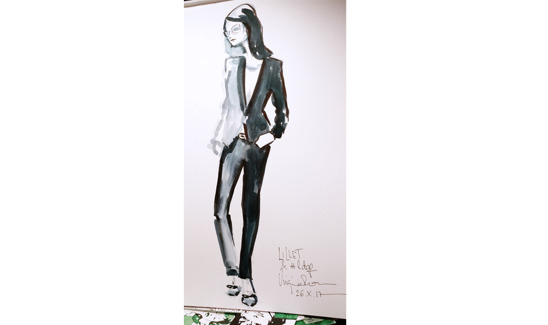 Event drawing live - fashion illustration