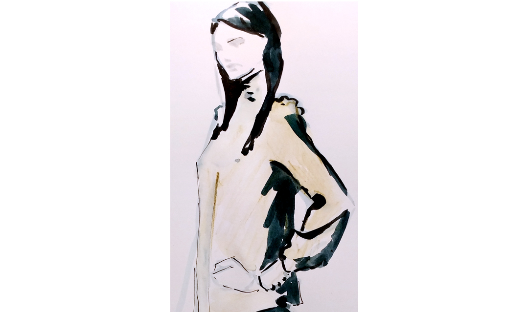 Event drawing live - fashion illustration - Lillet pop-up bar