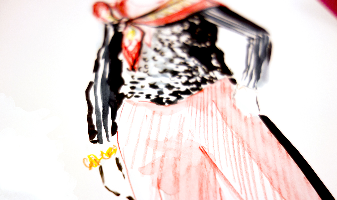 Virginia-Romo-fashion-illustration-live-sketches-Madeleine-store-event-2