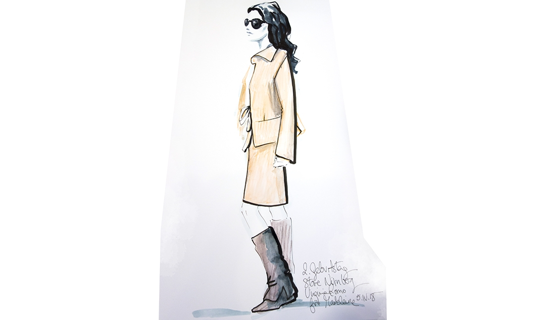 Virginia-Romo-fashion-illustration-live-sketches-Madeleine-store-event-7
