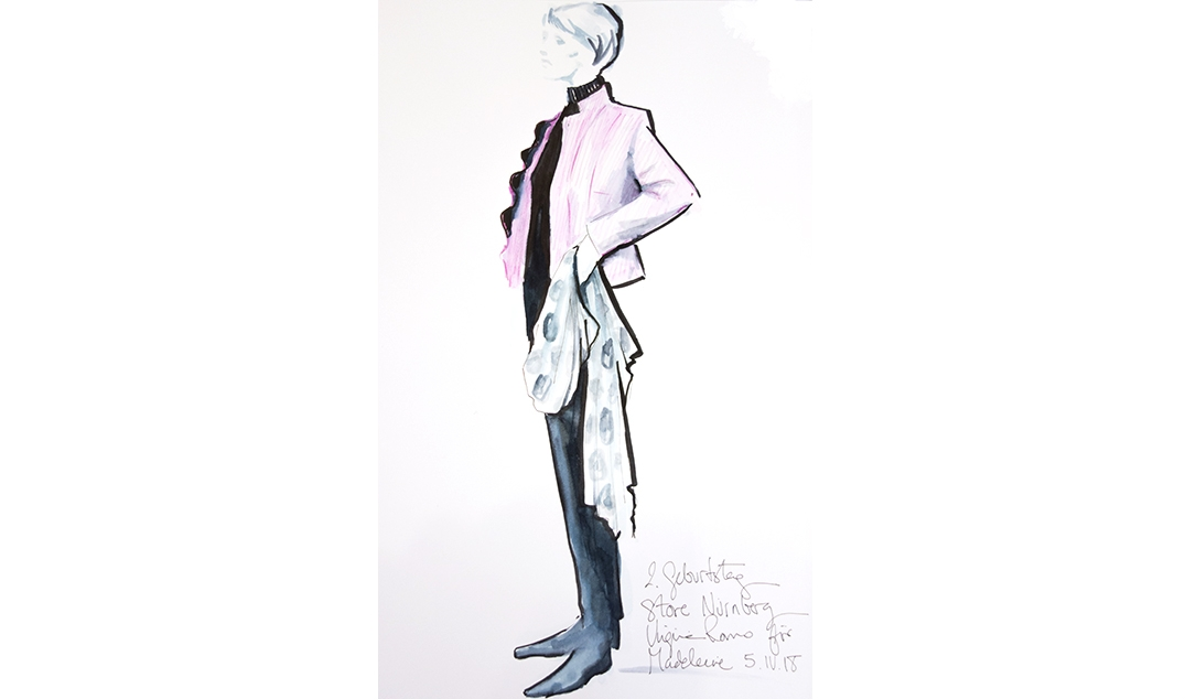 Virginia-Romo-fashion-illustration-live-sketches-Madeleine-store-event-11