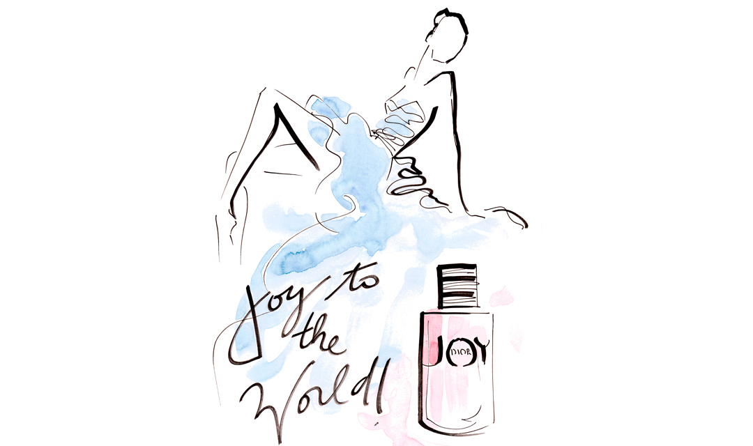 Live sketch event Virginia Romo Fashion Illustration launch JOY by Dior Germany