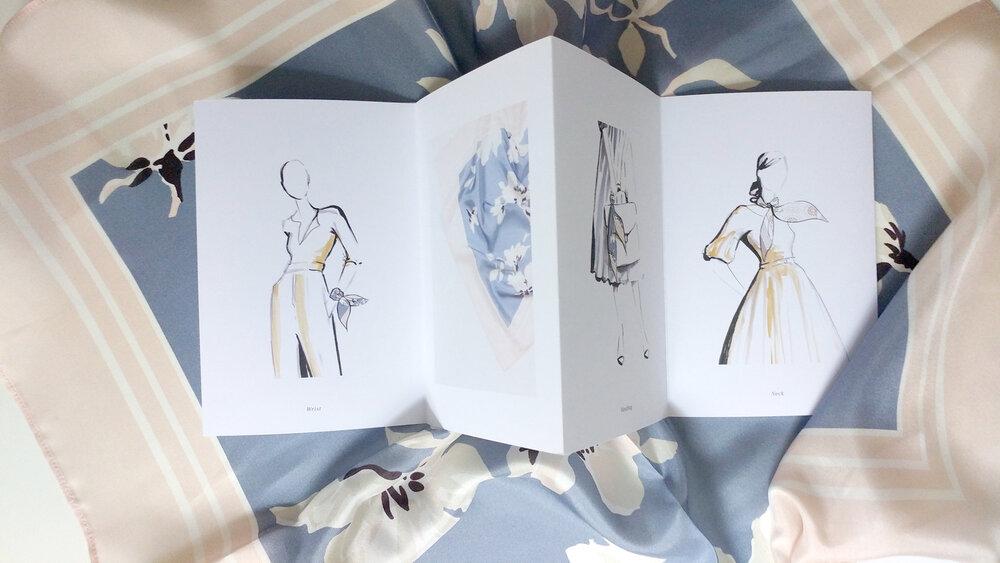 HANRO: Exclusive silk scarves reinterpreted