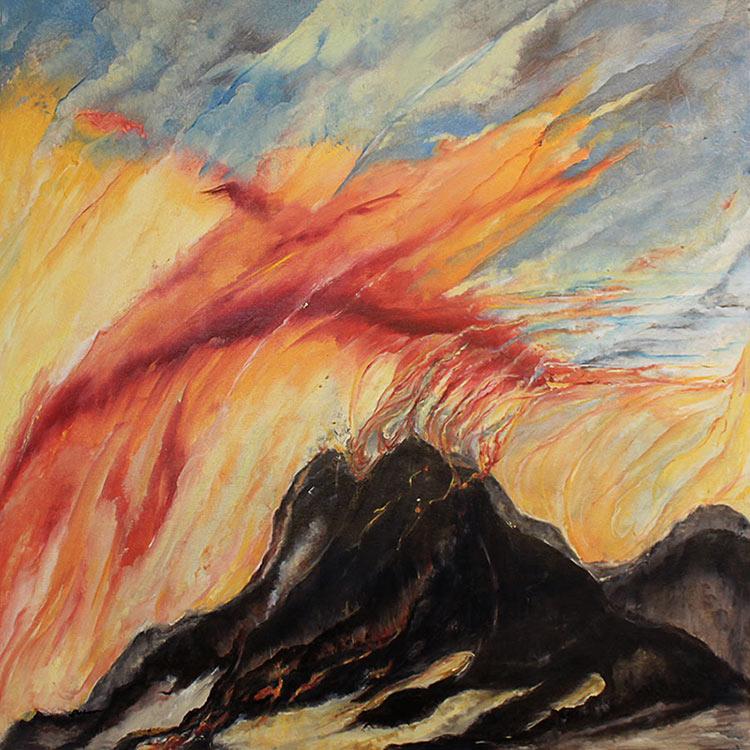 Broken Open, 36 x 36 in, Oil on canvas, 2013