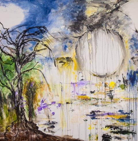 "Falling Acrylic on canvas, 48""x48"".jpeg"