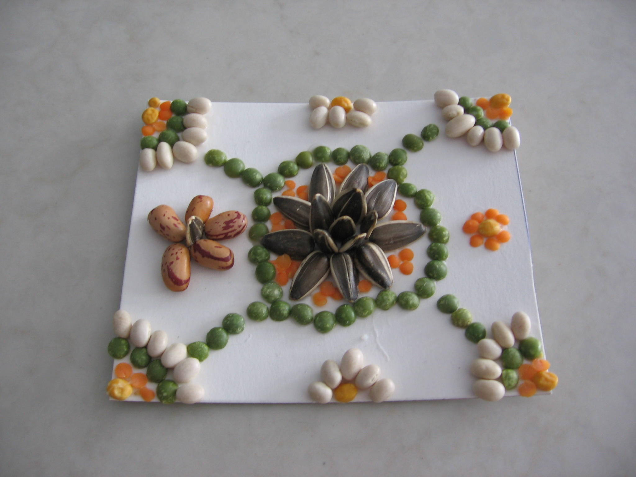 Seed art is a great way to combine art and gardening