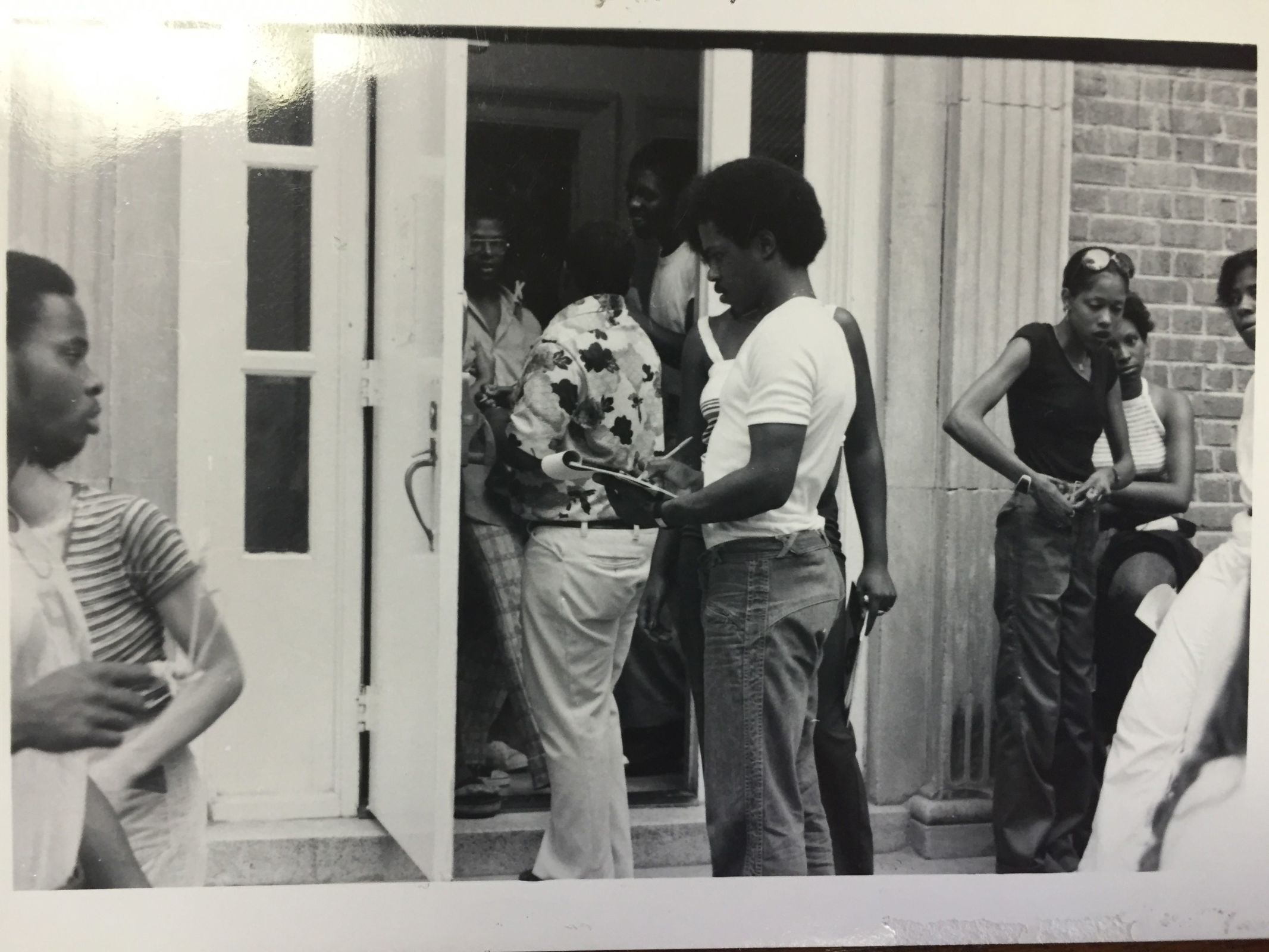 UNC students gather at a meeting on campus. Courtesy of Wilson Library.