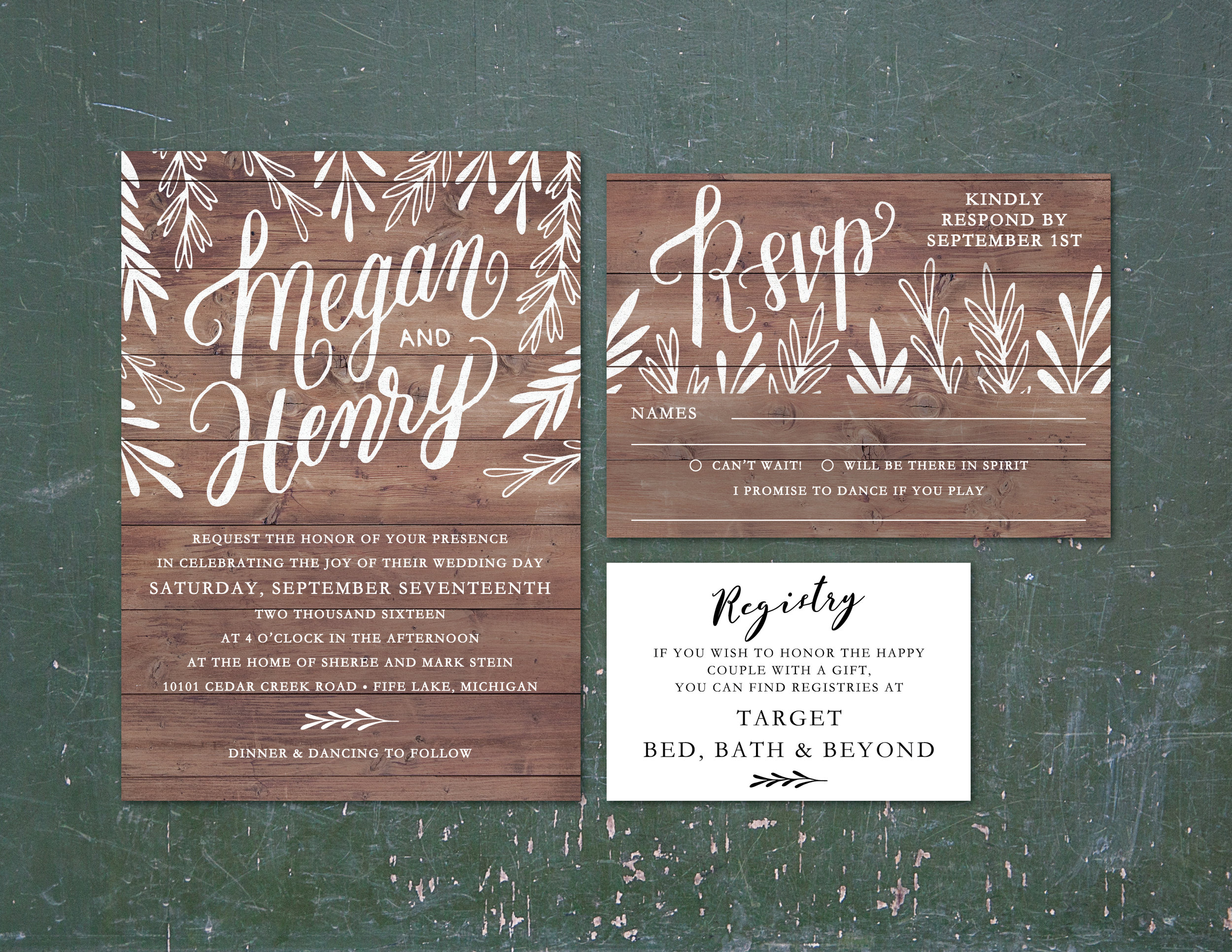 Kraft card stock - front