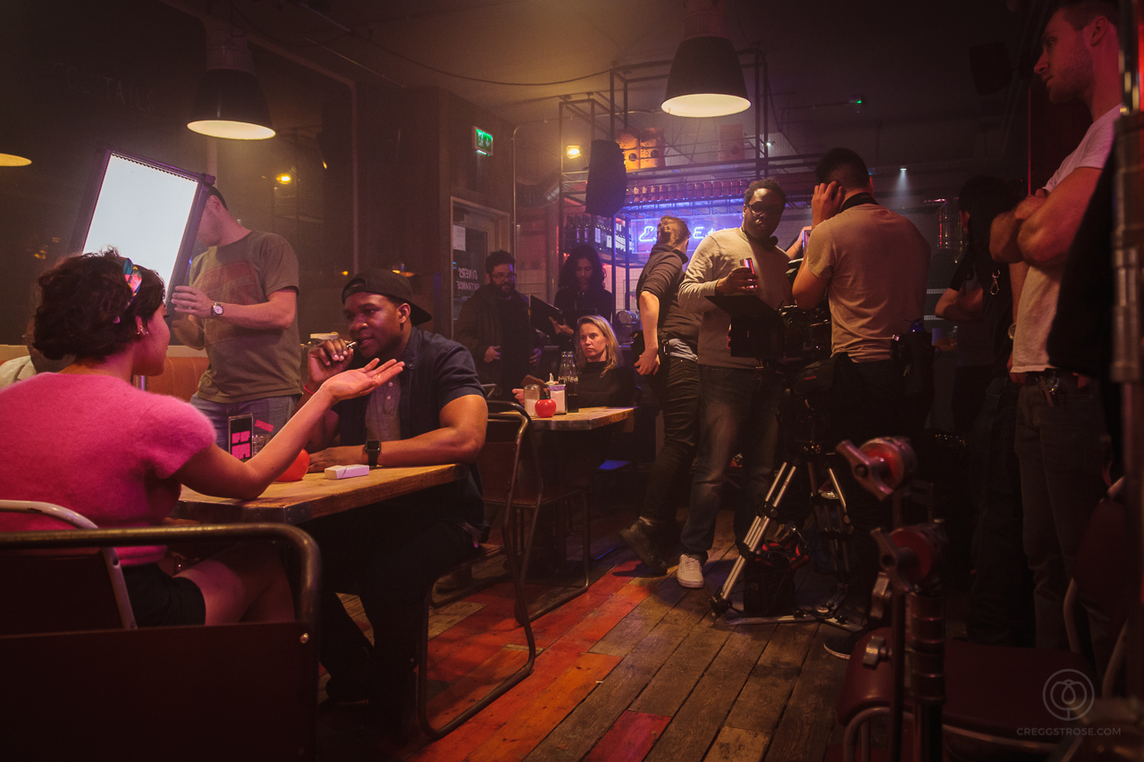 On the set of Hip Hop Cafe.Photograph by Cregg St. Rose