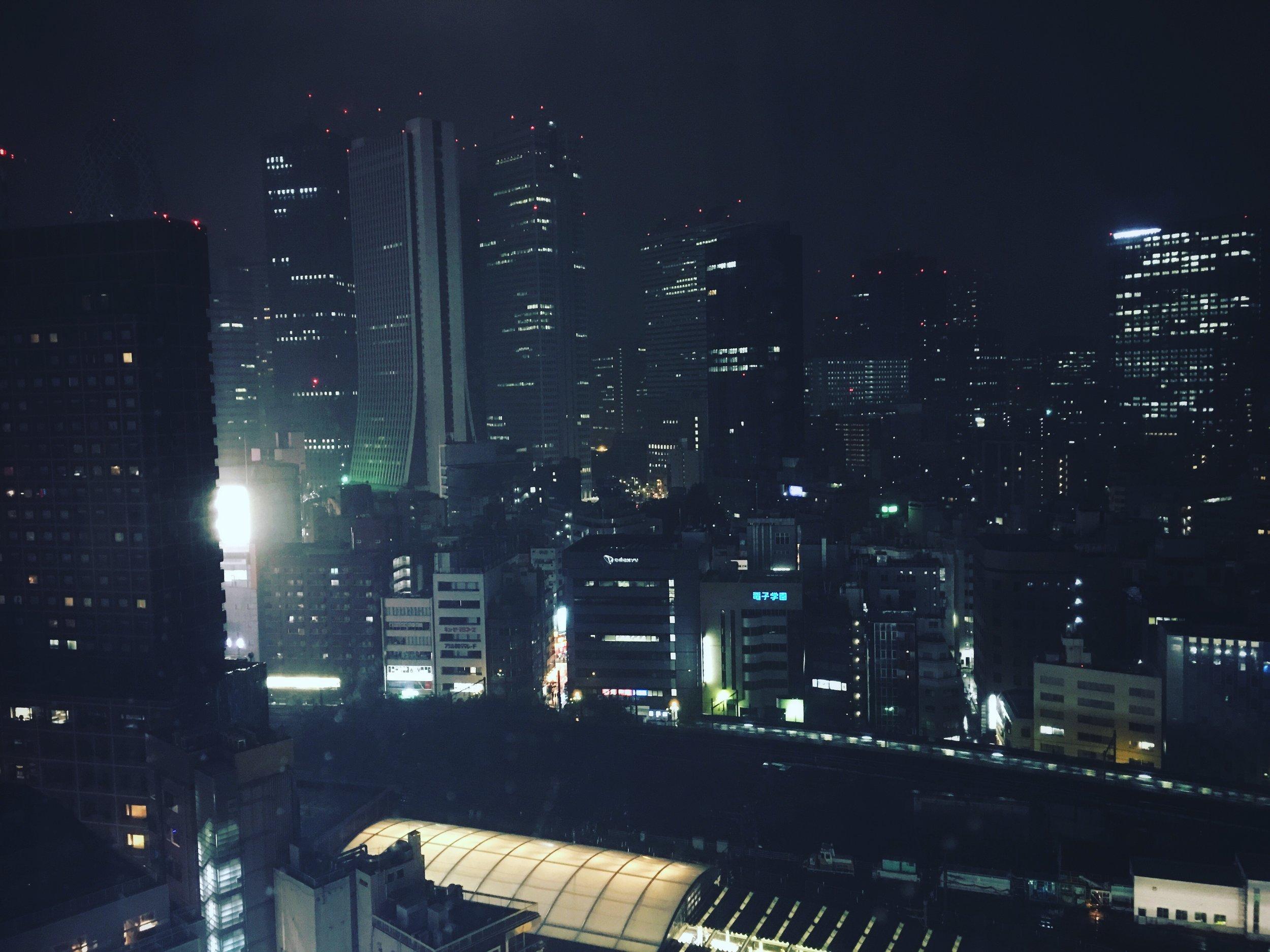Shinjuku at Night - Note the Atari Building