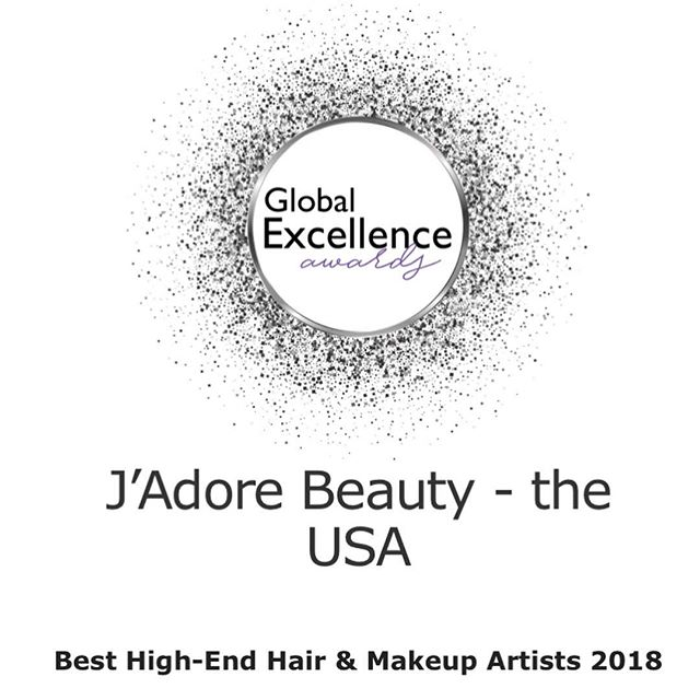 Happy to announce LUX Life Magazine has awarded J'Adore Beauty with Best High-End Hair & Makeup Artists for 2018🌟