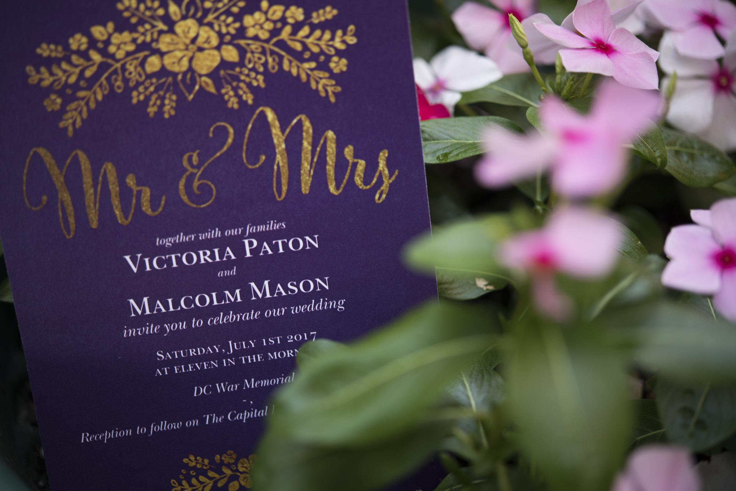 Wedding Invitation-Summer wedding-Purple theme wedding-wedding photography
