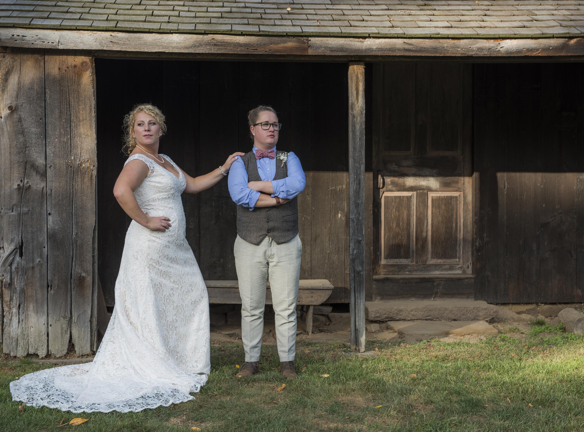 WEBB BARN-rustic wedding-connecticut photographer-LGBT wedding