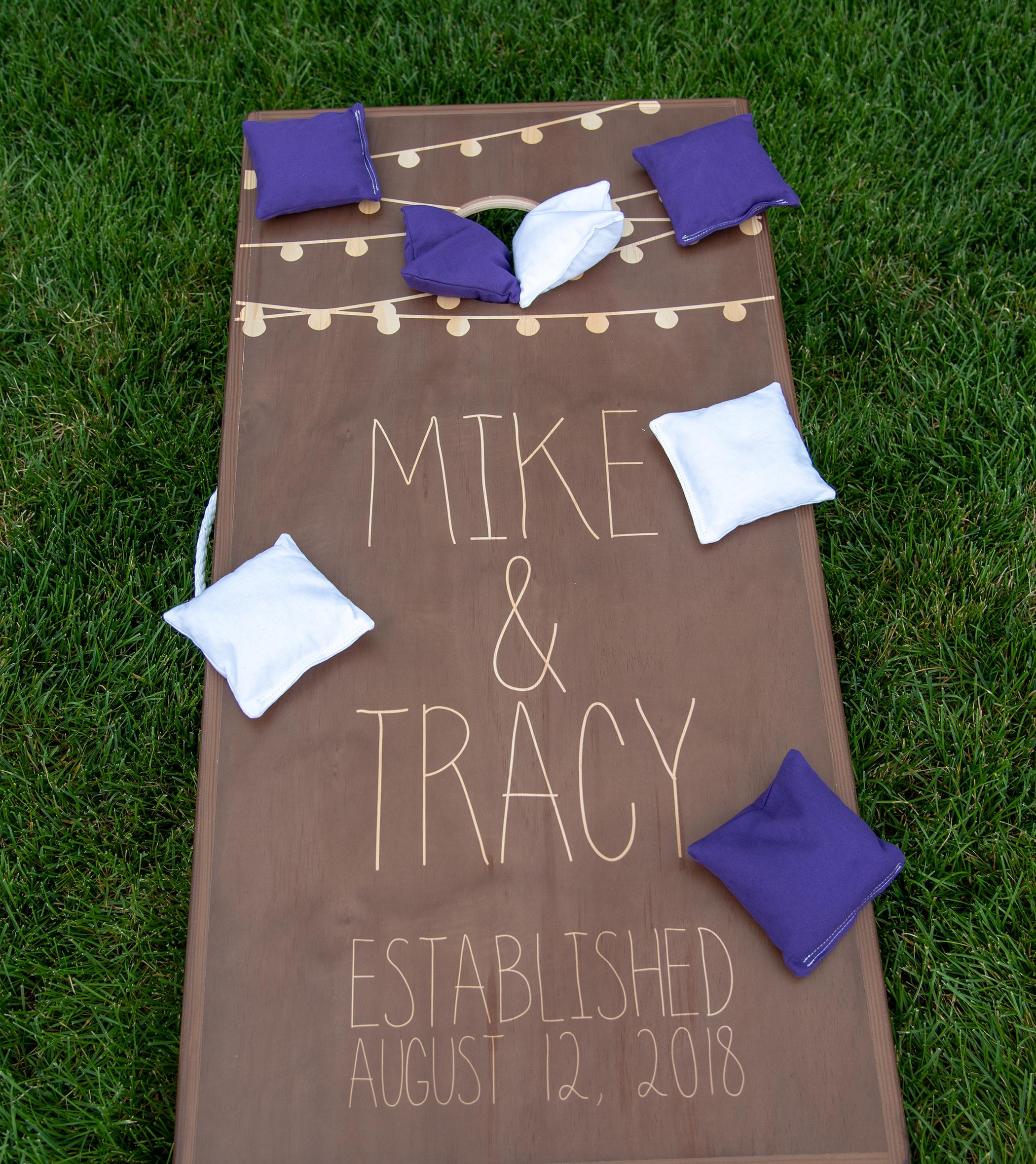 Personalized Wedding Cornhole Game