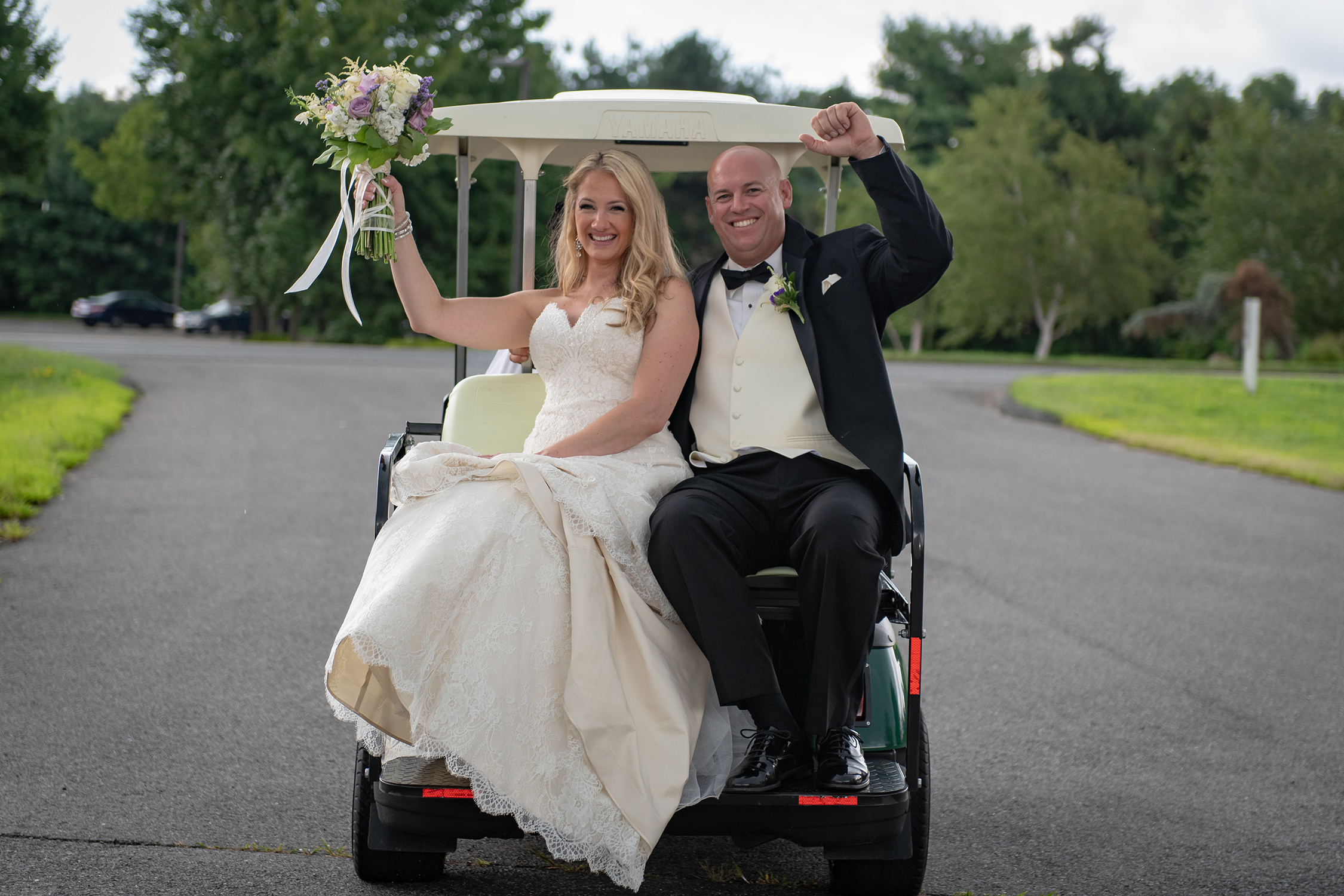 The Maneely's Wedding Golf Cart