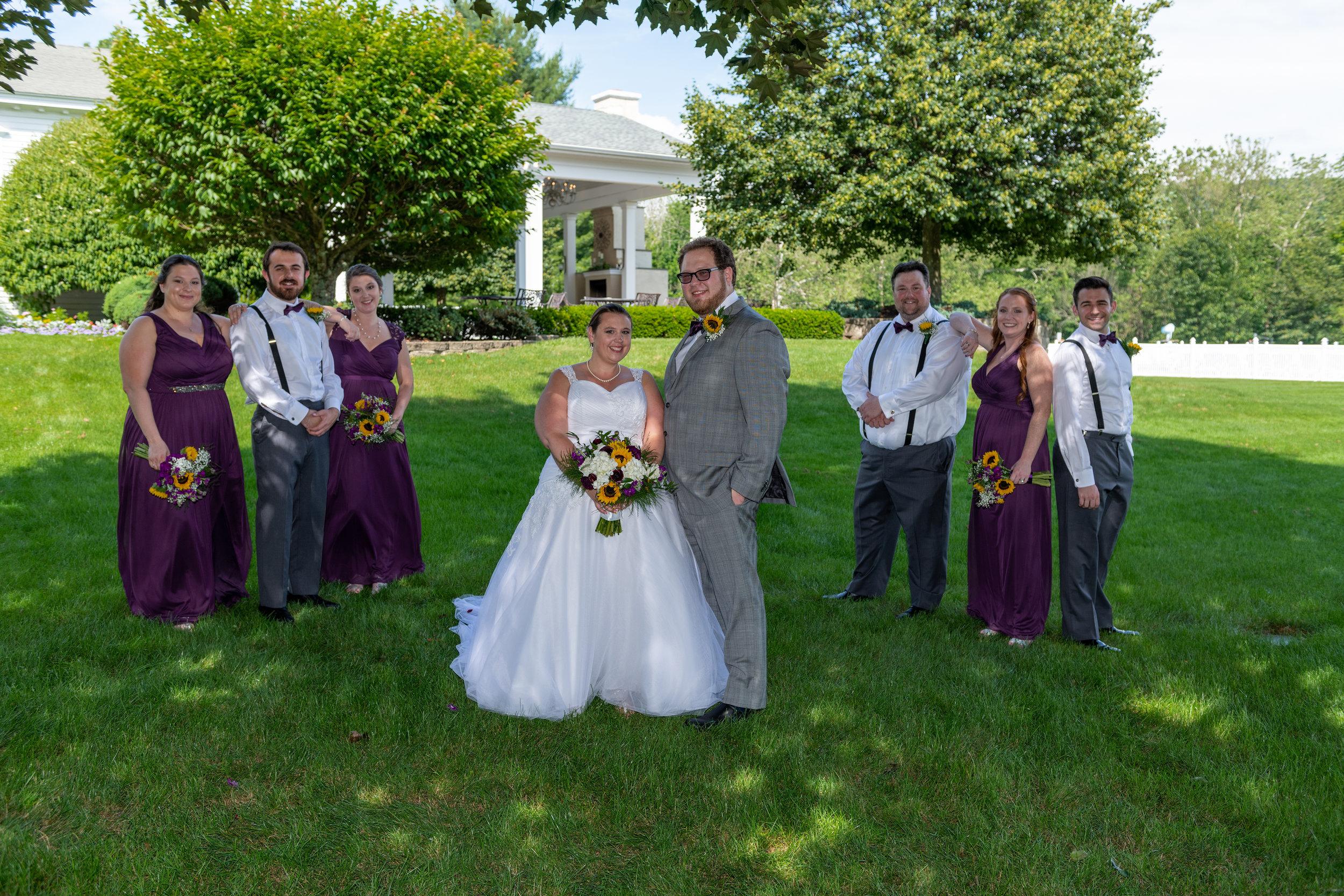 Bridal Party photo at their Farmington Club Wedding
