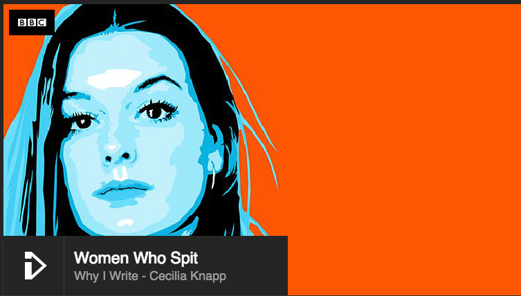 I was recently commissioned by the BBC to write a piece of poetry to be showcased on iplayer, as part of a series called 'Women who Spit.'