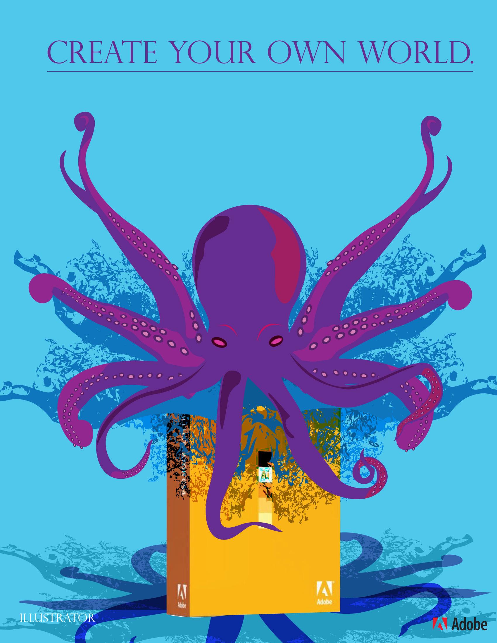 Concept Adobe Illustrator Advertisement