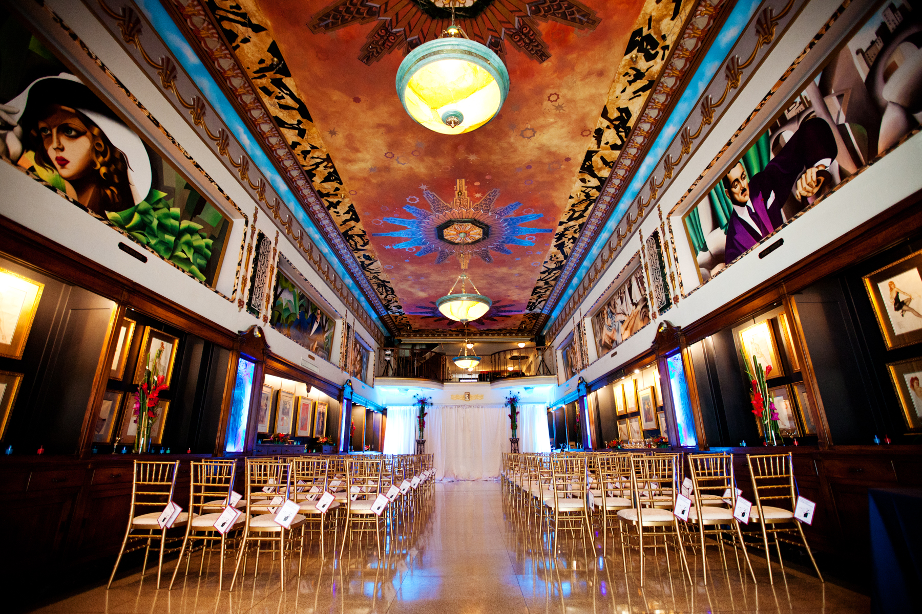 Ceremony Set up in the Grand Hall Event Space