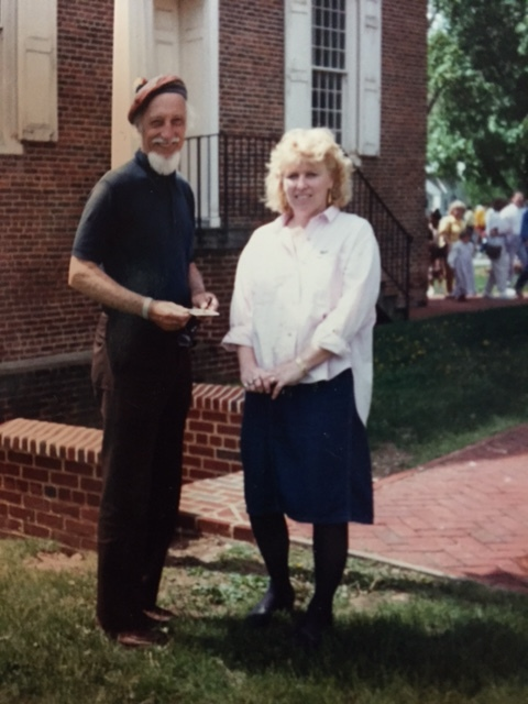 Jack Lewis and N. Taylor Collins around 1987 at Old Dover Days art show at Old State House.