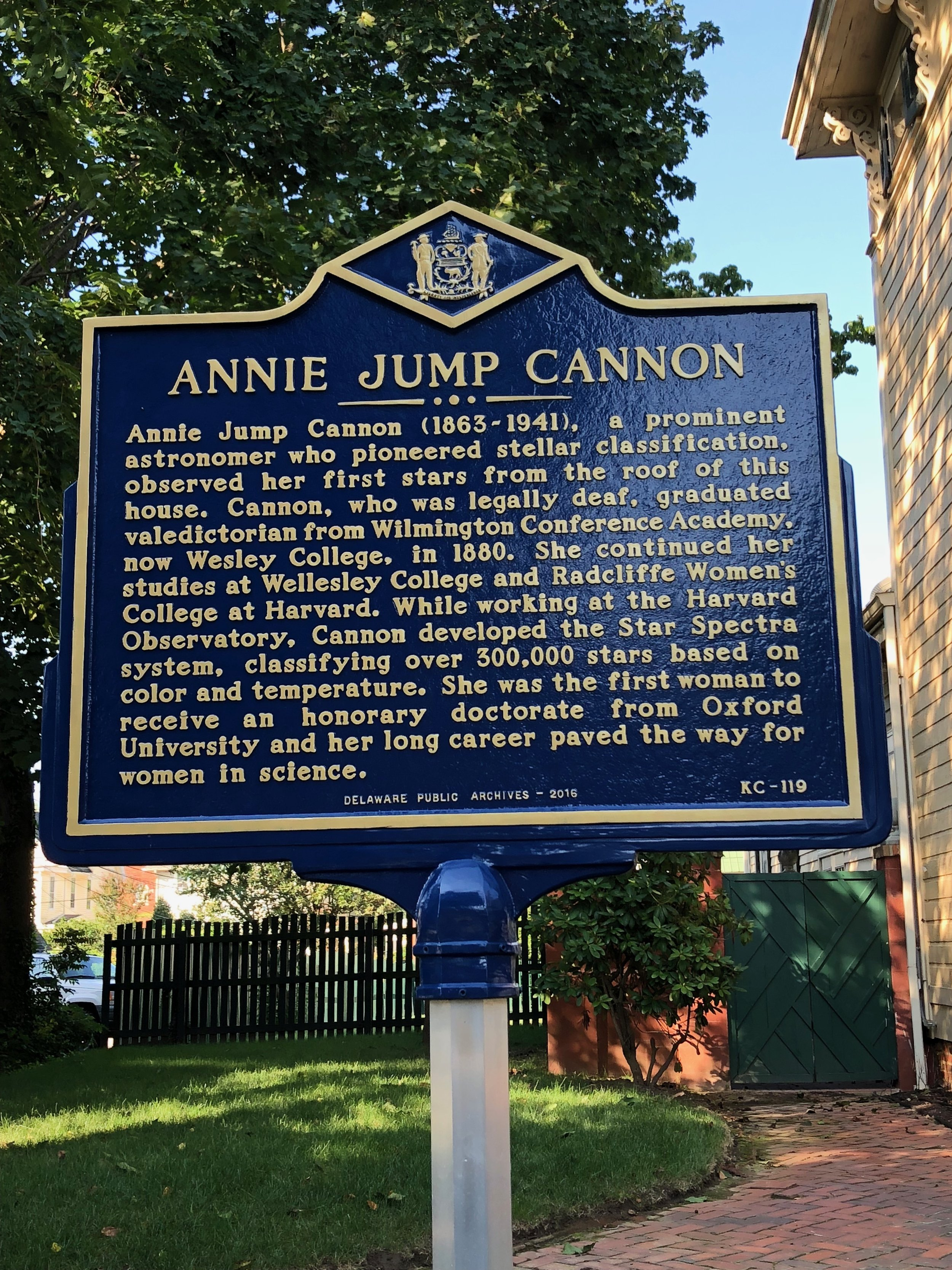 Annie Jump Cannon House — Home of Wesley College President