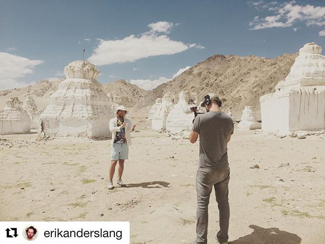 """#Repost @erikanderslang - go there for full slideshow... ・・・ Tbt to India, was reminded of this trip last night watching 180° S with a quote from creator of Patagonia - Yvon Chouinard: """"The word 'adventure' has just gotten overused. For me, adventure is when everything goes wrong. That's when the adventure starts."""" On this trip, we arrived with no set plan and the one bag that had the battery to every camera was seized. So all we had was one go pro, a few cell phones, and one battery for our C cam. And a drone, which was explicitly illegal in this military town. Anyway, its one of my favorite eps actually BECAUSE of this. Tbh though it may have been the most uncomfortable and challenging shoot of my life. 12 hrs jetlag and 12k feet of elevation hit me like a 4 day migraine infused hangover. Never again.... Also cant wait to get back..... who's in???"""