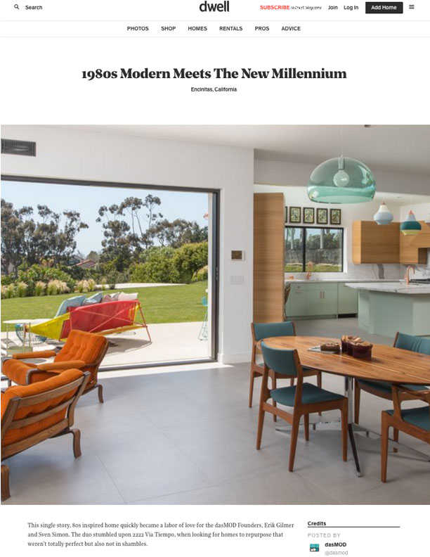 DWELL   AUGUST 2017  Award For: Home of the Day.