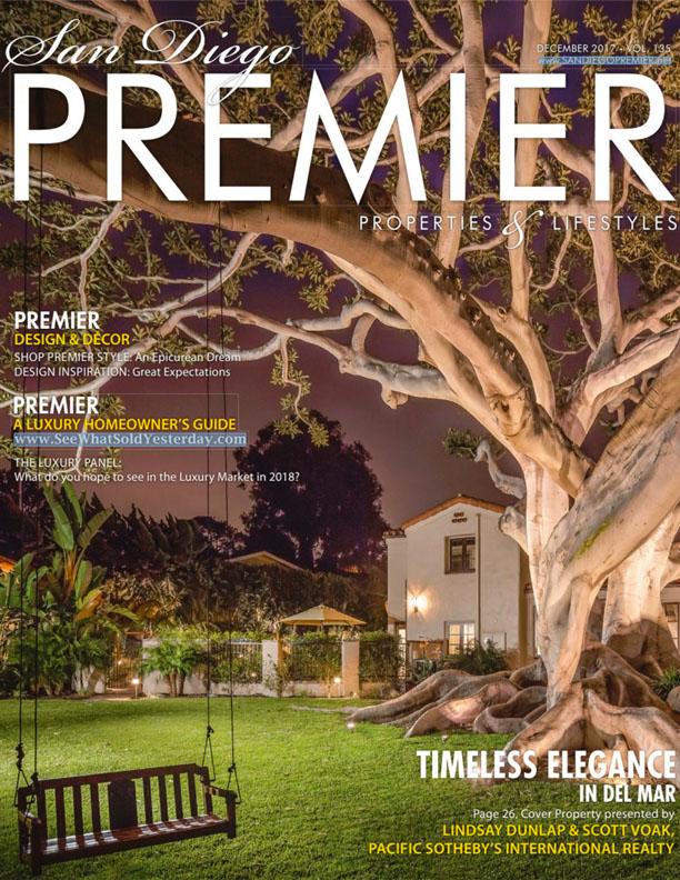 SD PREMIER   DECEMBER 2017  Shop Premier Style At Home. The New Century Modern Aesthetic.