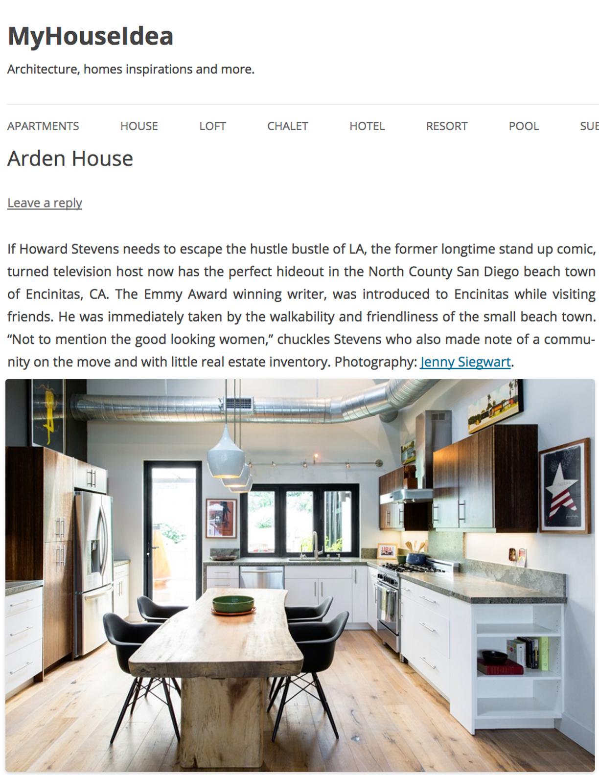 MYHOUSEIDEA   NOVEMBER 16, 2017  Arden House. Television Host's LA Escape.