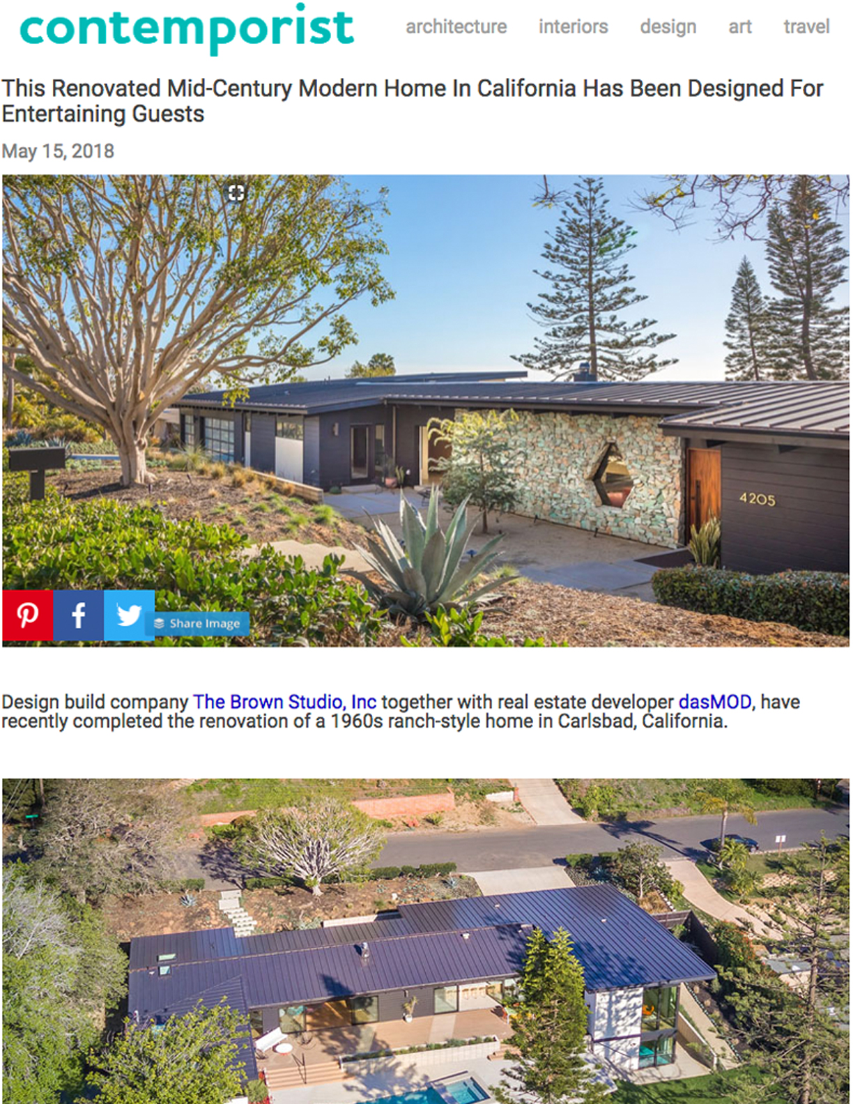 CONTEMPORIST   MAY 15, 2018  Renovated Mid-Century Modern Home Designed to Entertain Guests.