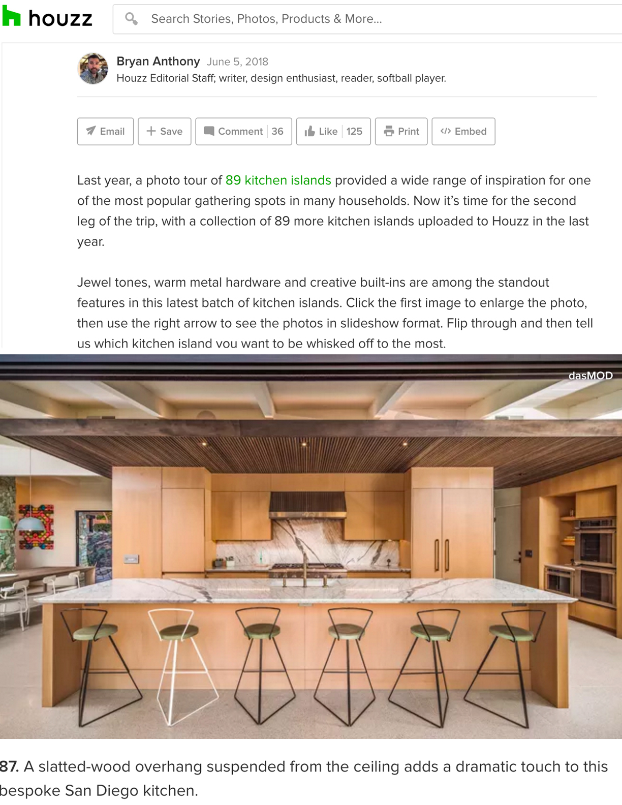 HOUZZ | JUNE 5, 2018  Let's Go Island Hopping Again. Check Out These 89 Kitchens.
