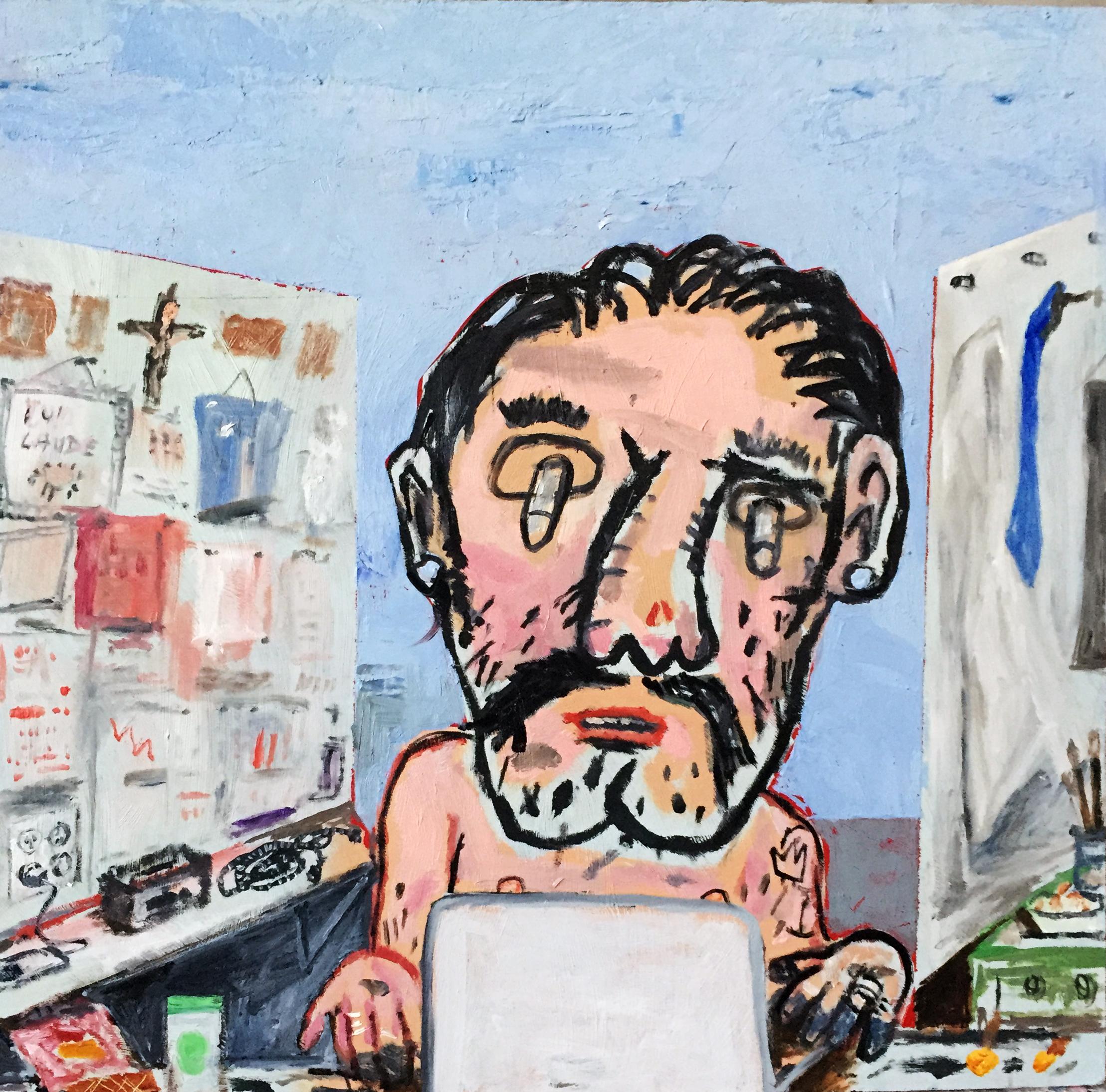 Atelier, Oil on Panel, 12in x 12in, 2016