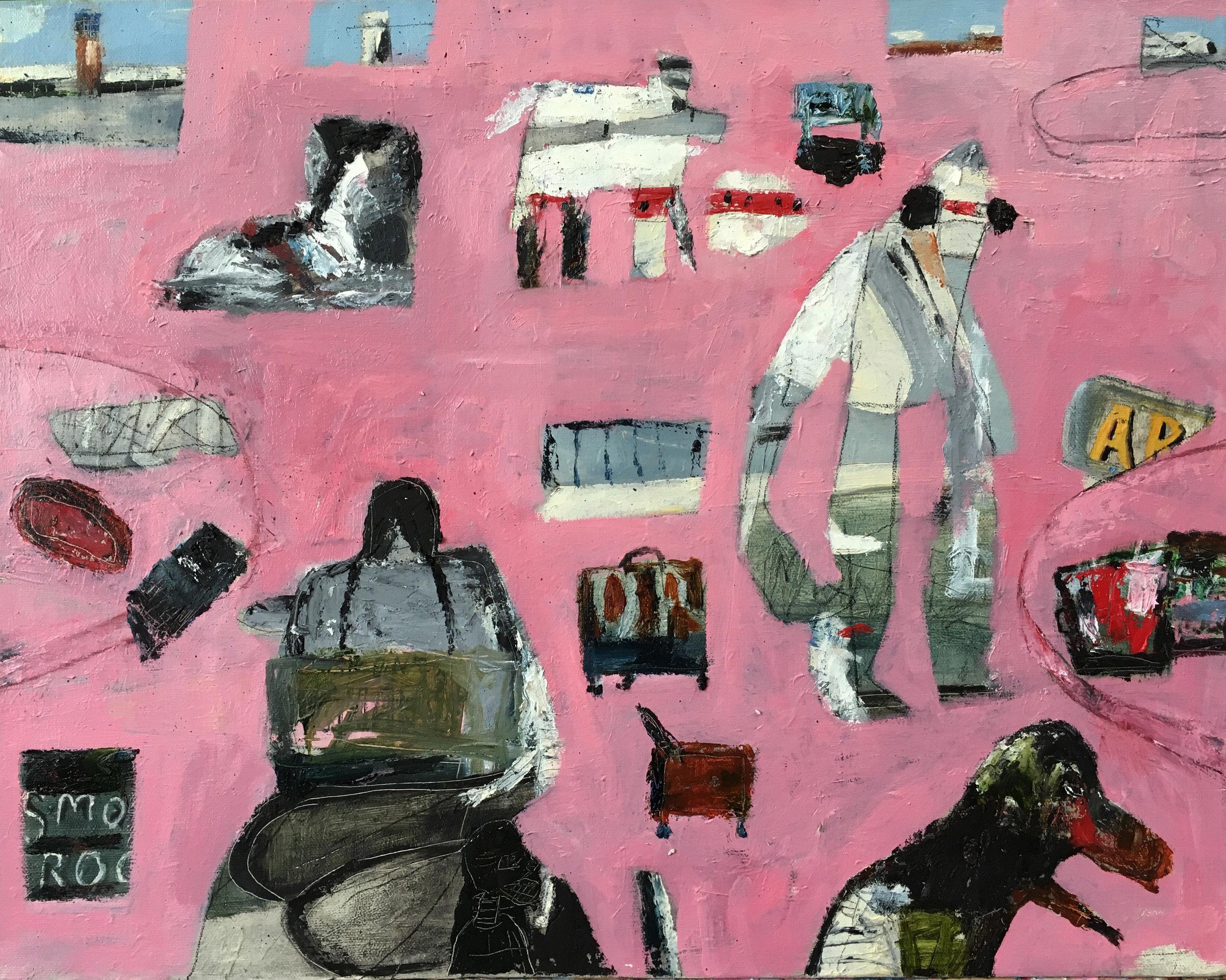 Bushwick Arrivals, Oil on Canvas, 16 x 20in, 2017