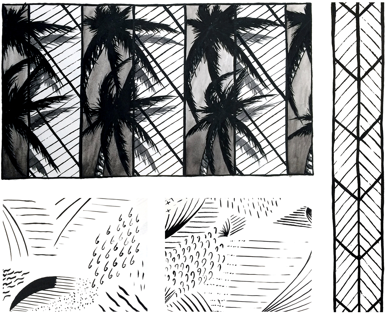 drawings from sketchbook