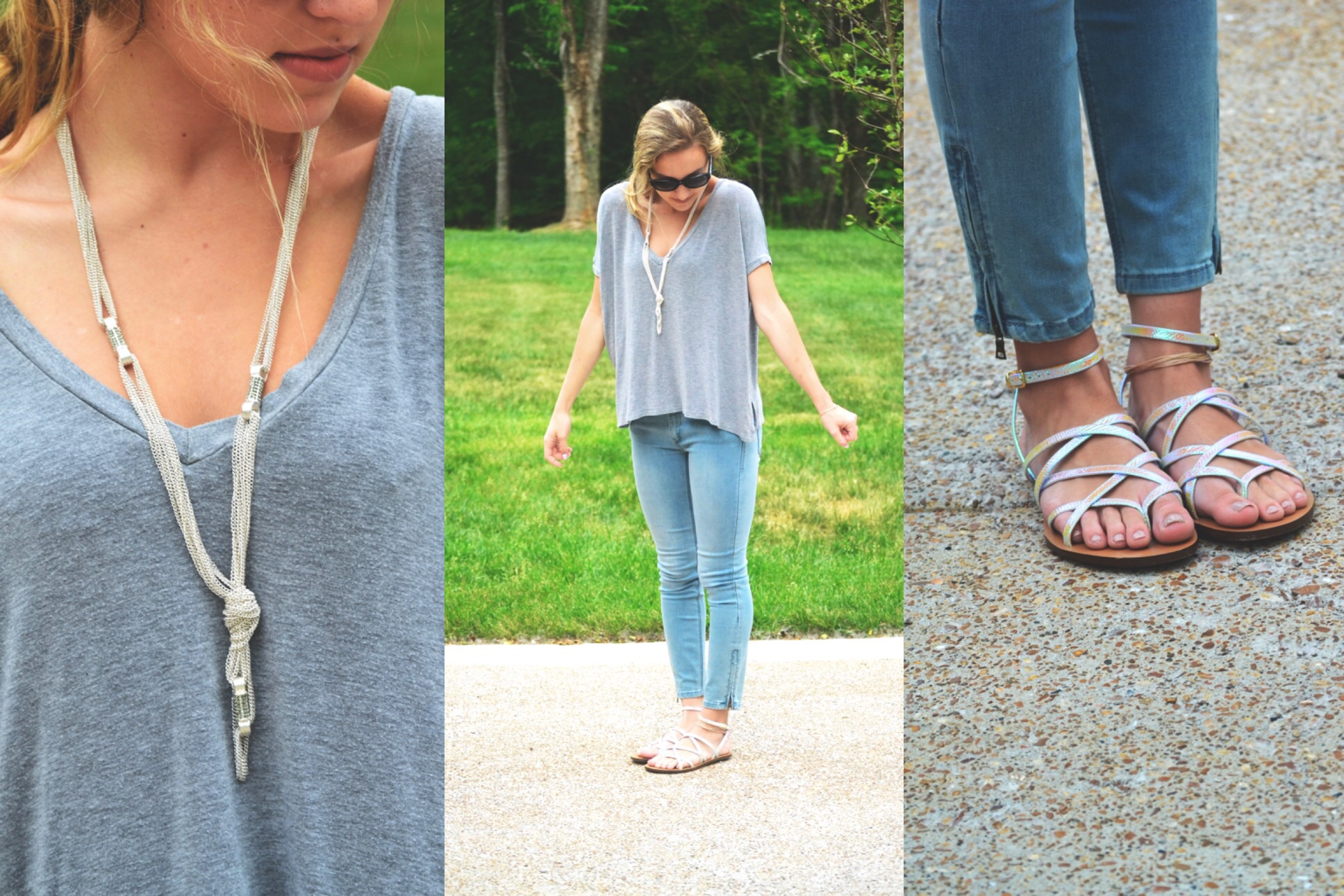 top: brandy melville; necklace: h&m; jeans: BCBG; shoes: j crew; lipstick: BITE beauty lip crayon in amaretto