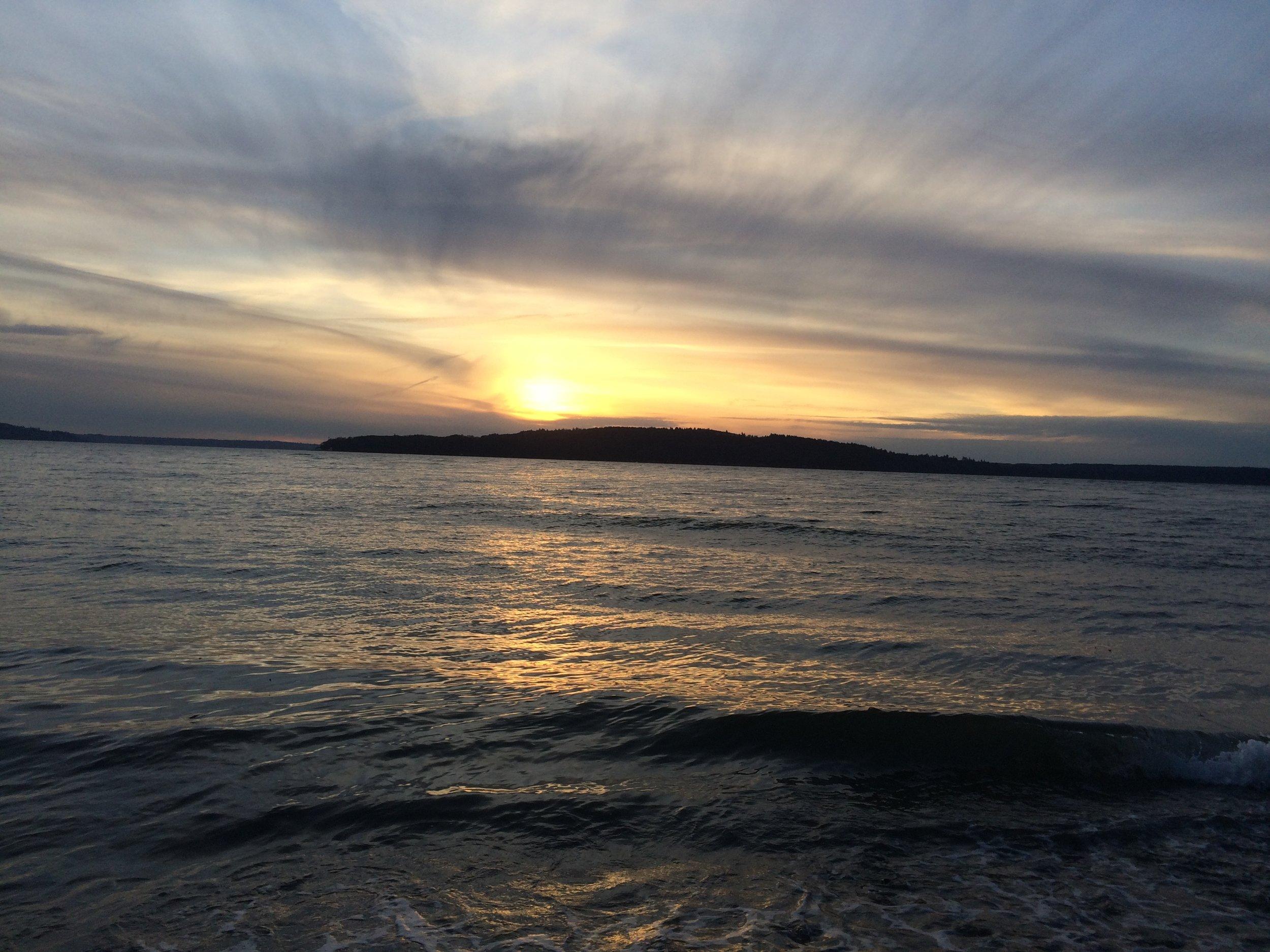 Final Sunset of 2017. Normandy Park, Washington.