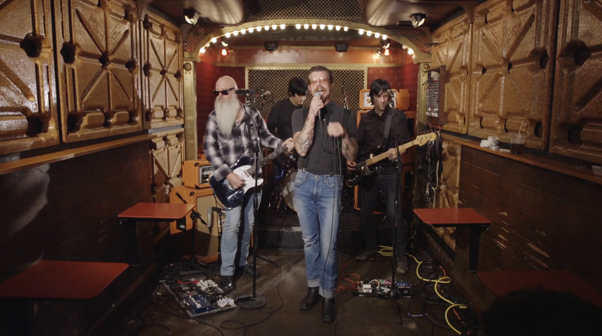 Eagles of Death Metal, Location Filming and Audio Recording, for The New York Times. Captured at Pete's Candy Store. 8 Cameras, Multi Track Audio