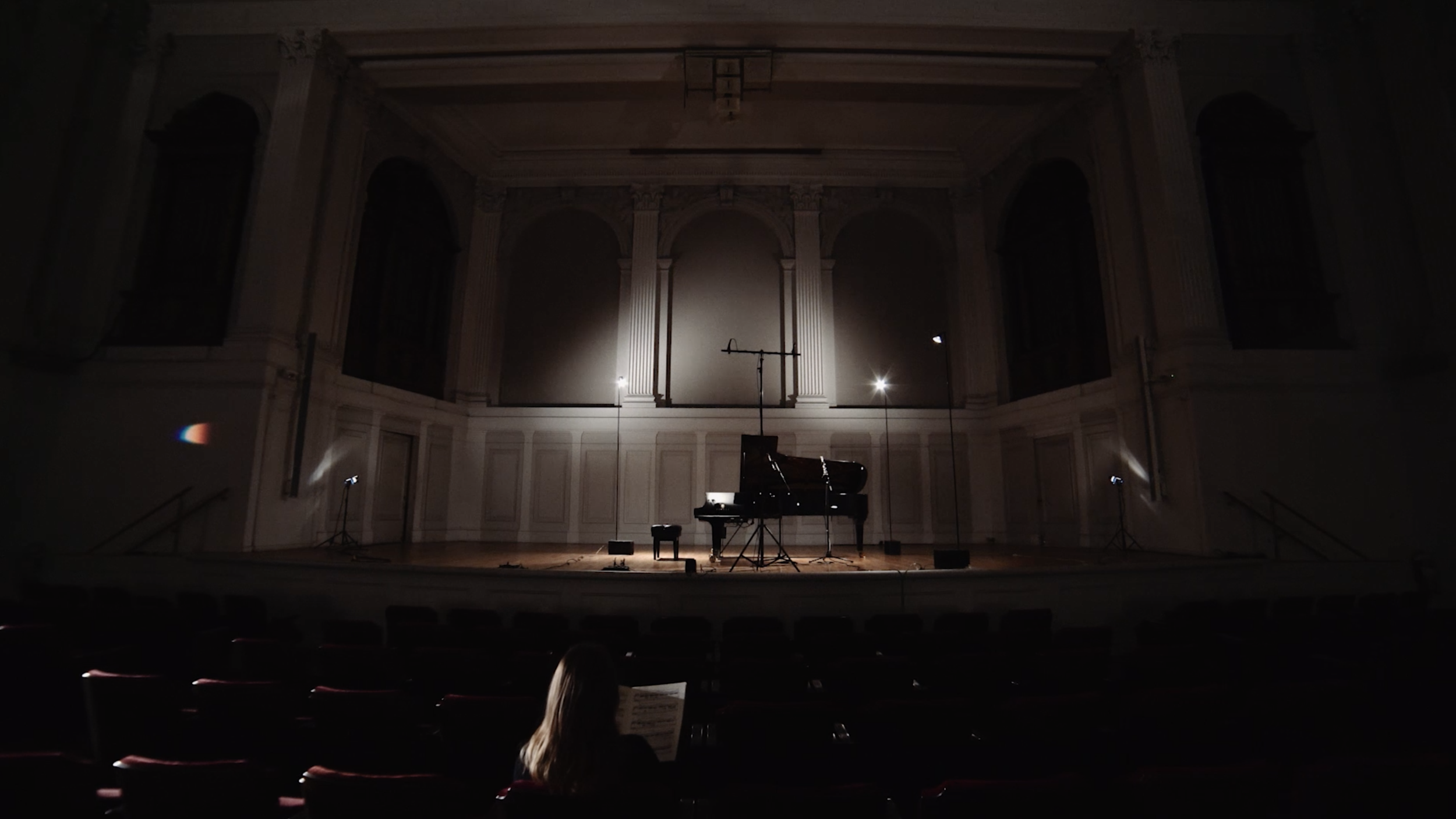 Recording + Filming Amy Gustafson for Yamaha at the Academy of Arts and Letters
