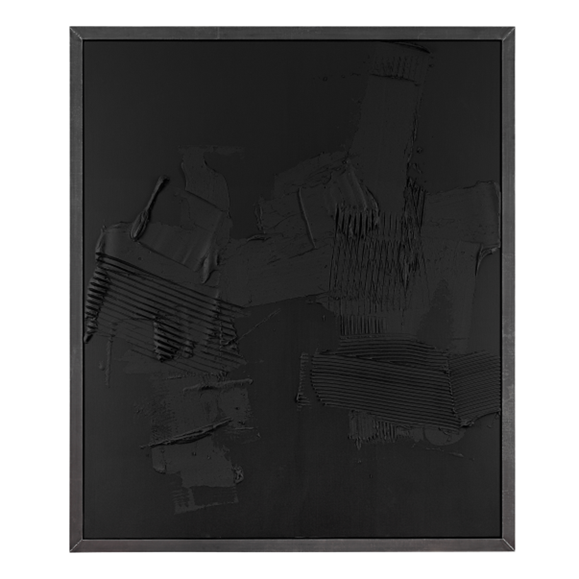 ANSELM REYLE Black Earth, 2006 mixed media on canvas in metal frame.png