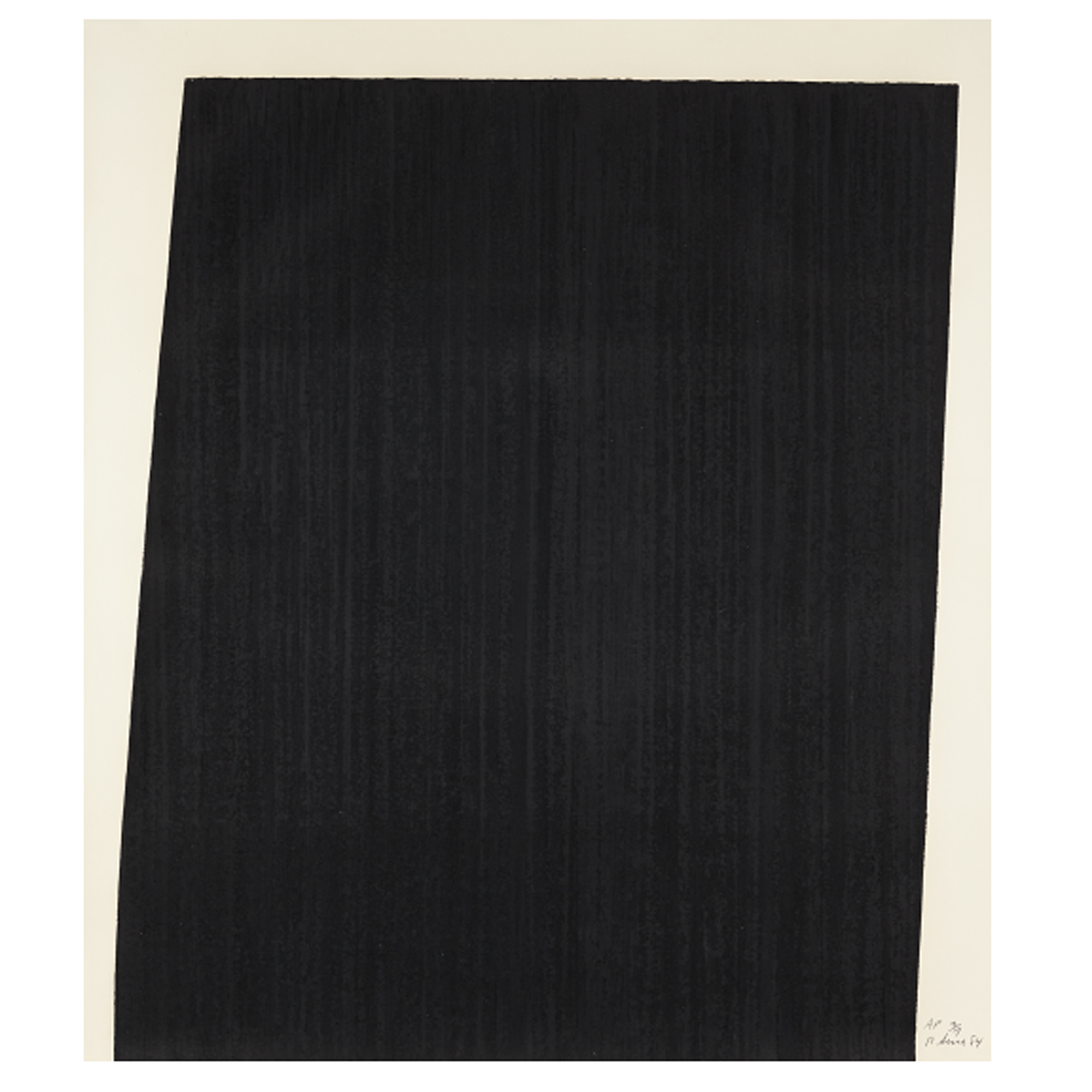 RICHARD SERRA Tujunga Blacktop, 1985 Paintstick and screenprint, on Arches Cover paper, the full sheet.png