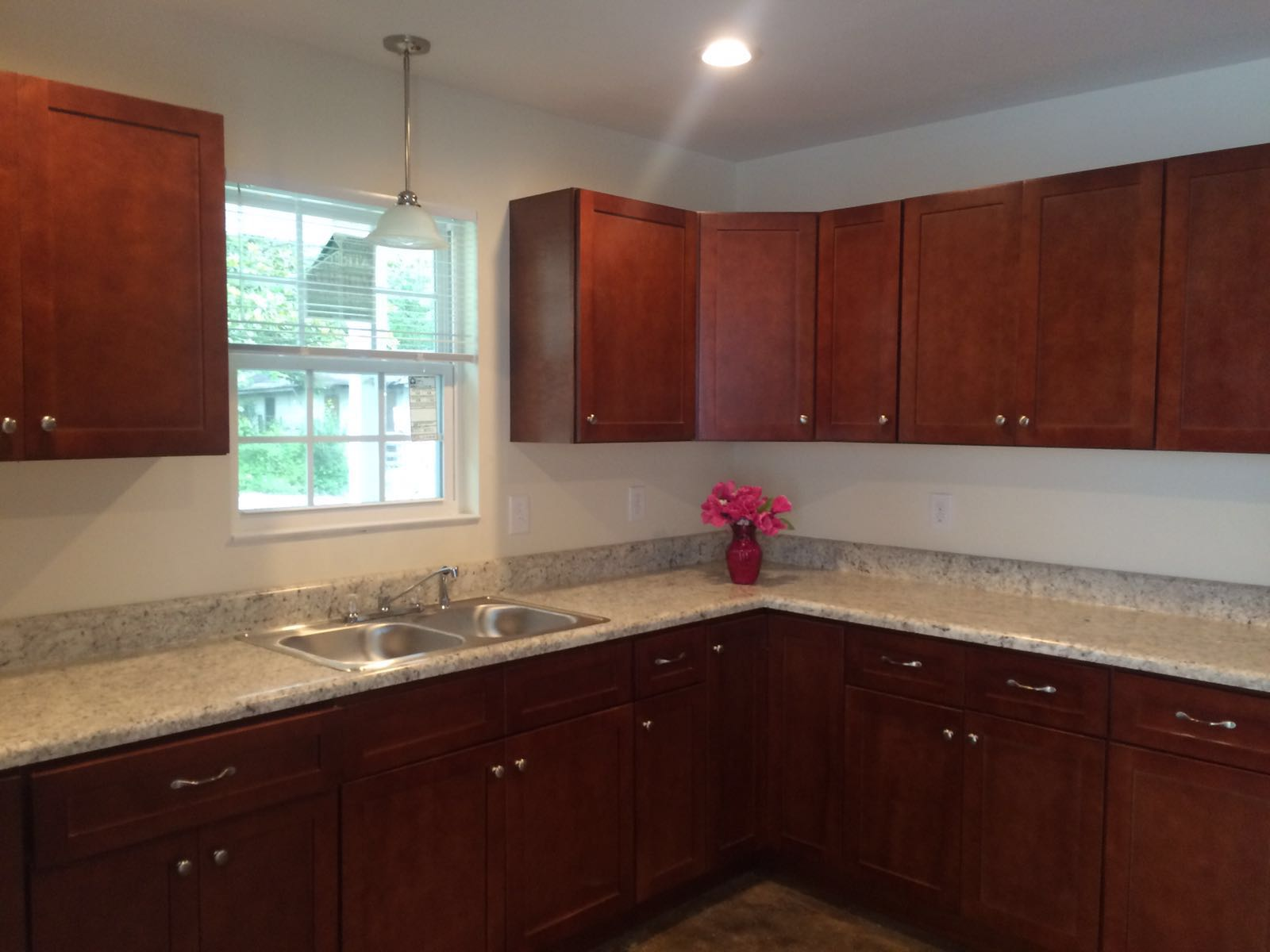 Colson Cherry Shaker kitchen in a Habitat for Humanity home in Darlington, SC.